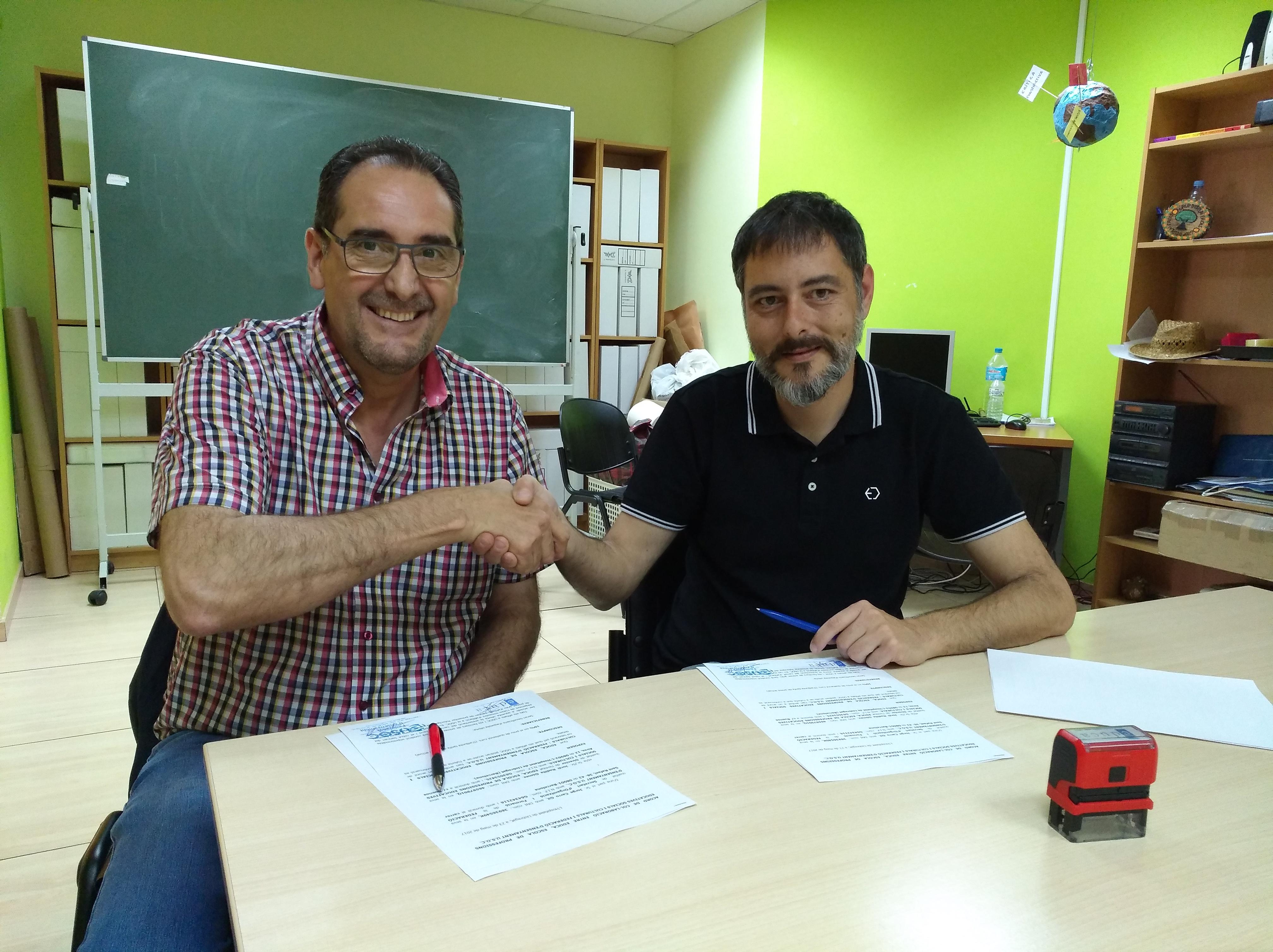 Signatura acord FEUSOC - EDUCA
