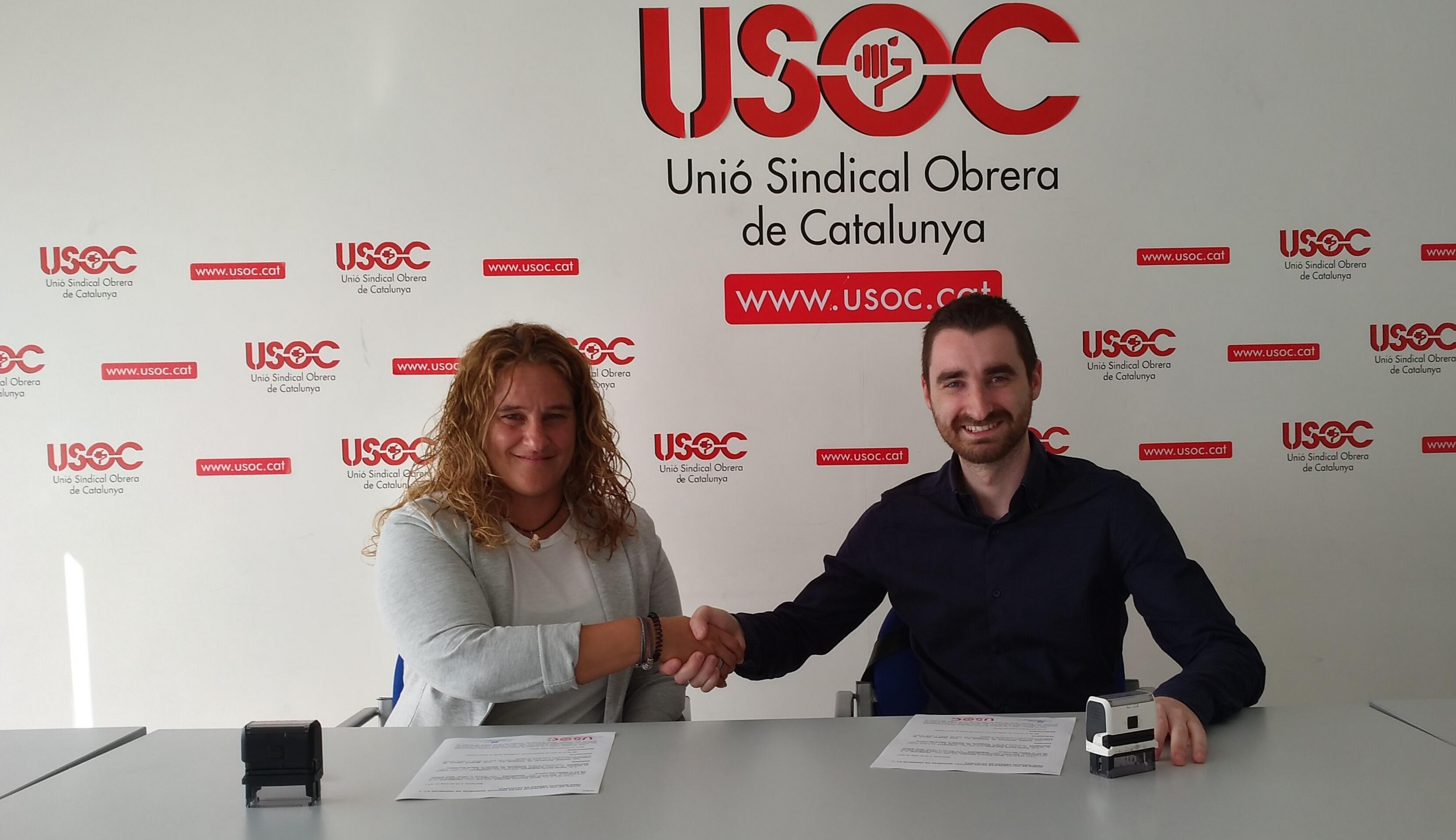 Signatura acord USOC - Institut Numància Formació